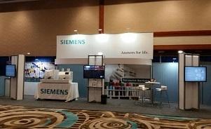 Siemens trade show exhibit