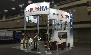 PureHM trade show exhibit by Skyline Exhibits Toronto