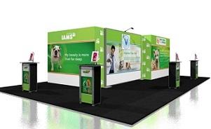 IAMS island trade show booth exhibit design by Skyline Toronto