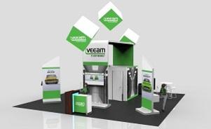VEEAM trade show booth design Skyline Toronto