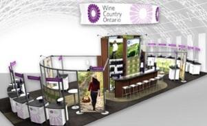 Wines of Ontario island trade show exhibit design