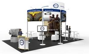 AirBoss trade show exhibit design Skyline Toronto