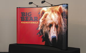 table top displays - big graphic presence