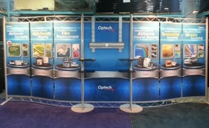 Optech inline trade show booth