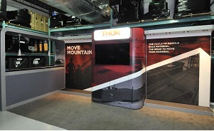 Thor custom modular trade show exhibit 20 foot