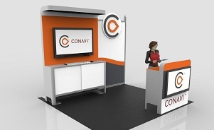 Conavi 10 foot modular trade show booth