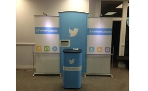 Twitter Canada banner stand backwall portable trade show display and counter
