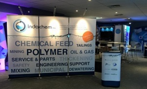 Indachem banner stand backwall trade show display