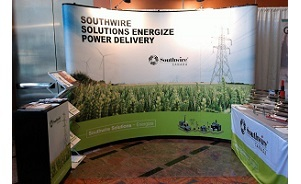 Southwire pop up Mirage portable trade show display