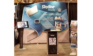 WindScape inflatable air powered portable trade show display 10 foot