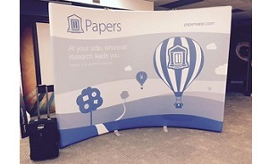 Papers by Skyline Toronto inflatable WindScape trade show display