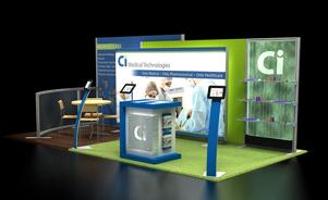 Ci MedTech 10x20 Trade Show Booth