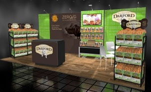 Darford Dog Treats modular trade show booth Skyline BC