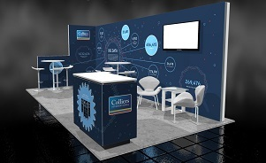 Colliers trade show backwall display BC Canada