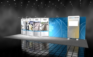 Voestalpine 10x30 inline exhibit Skyline BC trade show displays