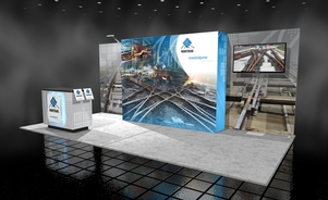 Voestalpine 10 x 20 inline trade show booth Skyline BC Vancouver Canada