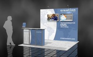 Creation Technologies 10 x 10 trade show booth Skyline BC Vancouver Canada