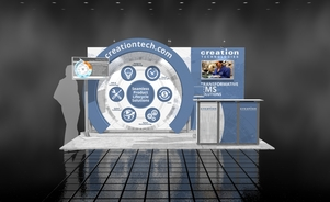 Creation Technologies 10 x 15 trade show display design