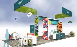 Oppy 20 x 50 island trade show exhibit Skyline BC Vancouver Canada