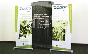 Exhibition Booth Banner : Banner stands banner displays roll up displays skyline exhibits