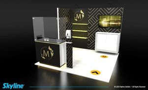 10 x 10 inline exhibit design for trade shows post covid19