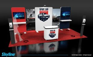 10x20 inline exhibit design social distancing