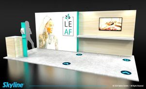 inline booth trade shows - social distancing for 10x20 exhibit