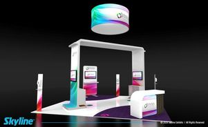 trade show island exhibit design covid19