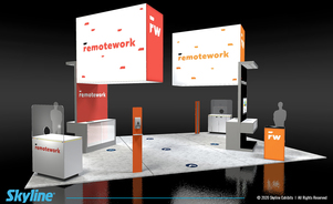 exhibit design for large island booth safety guidelines at trade shows
