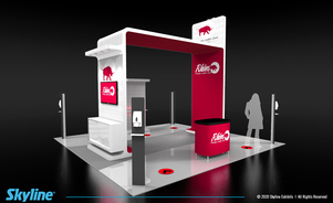 design for island booth at trade shows following pandemic