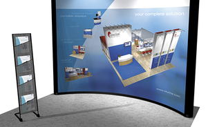 trade show tables - make literature accessible