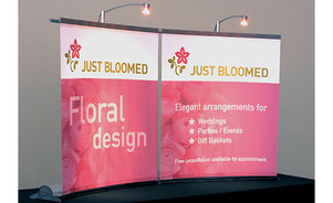 Portable Compact trade show exhibit display creative