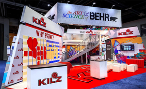 large graphic trade show structures