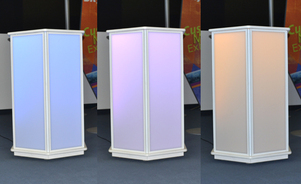 eye catching podiums and tables events product display lighting led