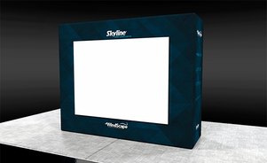 trade show events exhibit windscape projection