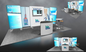 Skyline Connecticut - BioLetic - modular inline trade show exhibit