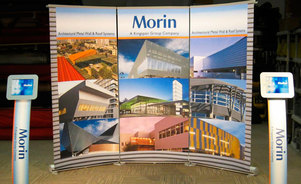 Skyline Connecticut - Morin - portable trade show display
