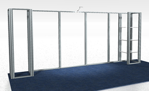 trade show events exhibits skyrise frame