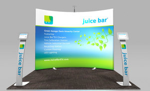 Skyline Connecticut - Juice Bar - WindScape trade show exhibit
