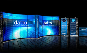 Skyline Connecticut - Datto - backlit trade show display