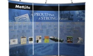 MetLife trade show banner stands