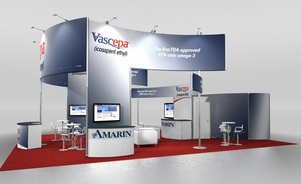 Skyline Exhibits New Jersey Amarin trade show rendering