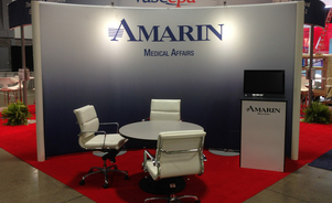 Skyline Exhibits New Jersey Amarin trade show booth