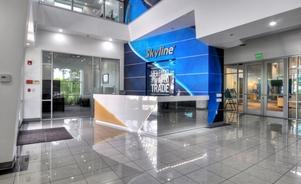 Skyline Los Angeles office lobby