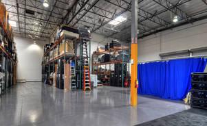 Skyline Los Angeles warehouse
