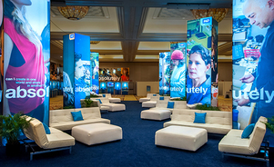 trade show branded environments - corporate events