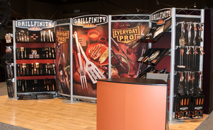 Kiosques d'exposition modulaires - Merchandising