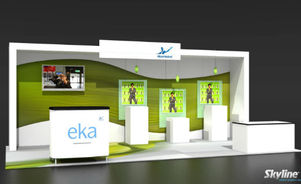 Skyline Southeast Akzonobel EKA 10x20 trade show booth