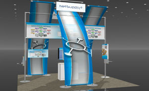 Skyline Southeast Net Support 20x20 trade show booth