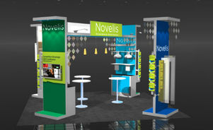 Skyline Southeast Novelis 20x20 trade show booth